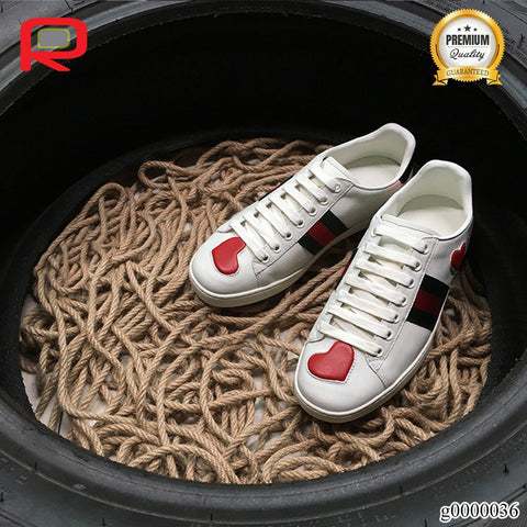 Image of GG Ace Embroidered Hearts (W) Shoes Sneakers