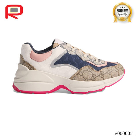 Image of GG Rhyton Beige Ebony (W) Shoes Sneakers