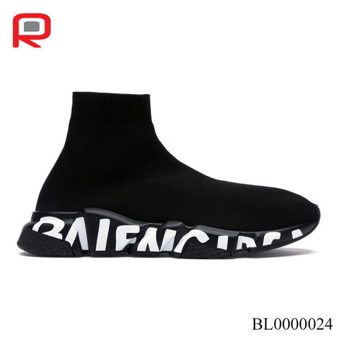 BLCG Speed Graffiti Trainers Black White Shoes Sneakers