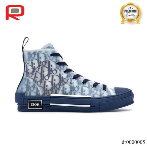 Image of CD B23 High Top Blue Oblique Shoes Sneakers