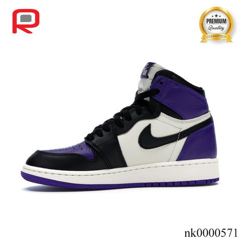 Image of AJ 1 Retro High Court Purple (GS) Shoes Sneakers