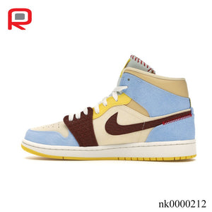 AJ 1 Mid SE Fearless Maison Chateau Rouge Shoes Sneakers