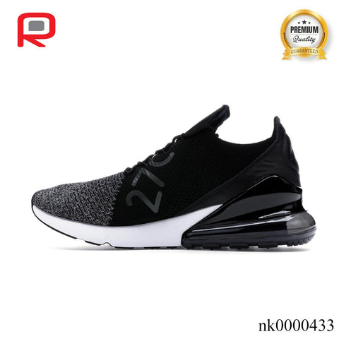 Image of AM 270 Flyknit Black White Shoes Sneakers