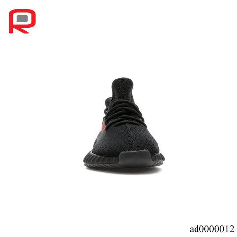Image of YzY Boost 350 V2 Black Red Shoes Sneakers