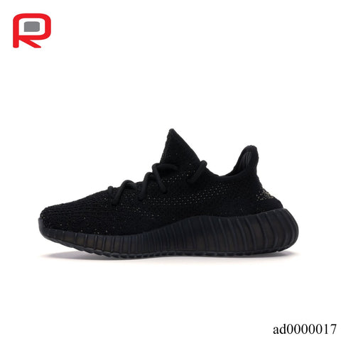 Image of YzY Boost 350 V2 Core Black Green Shoes Sneakers