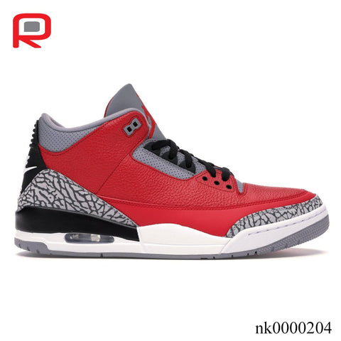 Image of AJ 3 Retro SE Unite Fire Red Shoes Sneakers