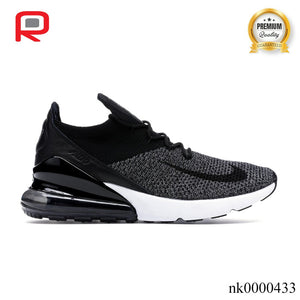 AM 270 Flyknit Black White Shoes Sneakers
