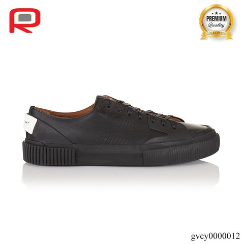 Image of Black Tennis Light Low-top Leather Trainers Shoes Sneakers