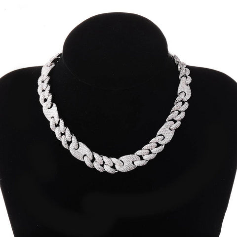 Iced Out CZ Miami Cuban Necklace (16mm/20mm)