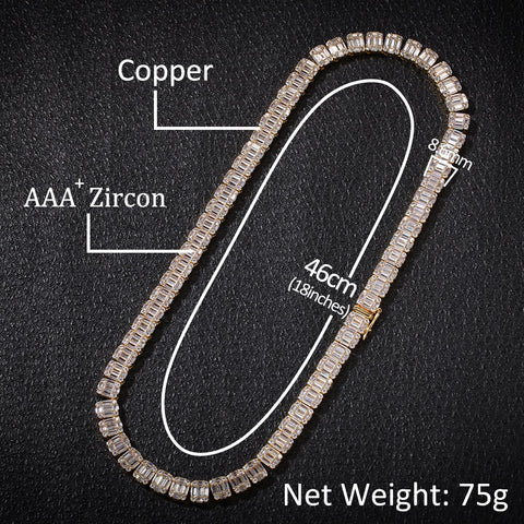 Image of Single Row CZ Tennis Necklace (8.6mm)