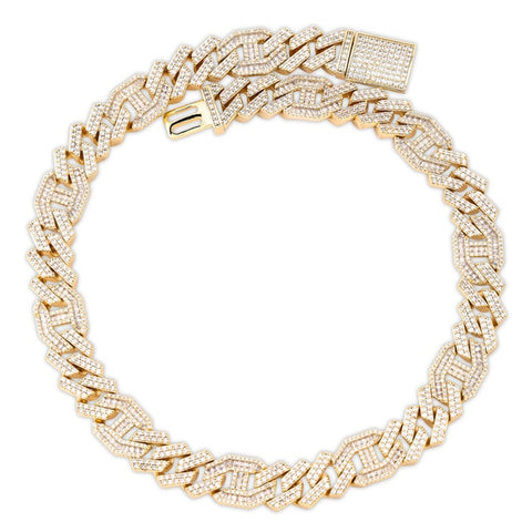 Image of Miami Baguette Cuban Chain Necklace (14mm)