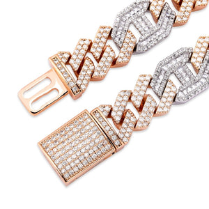 Miami Baguette Cuban Chain Necklace (14mm)