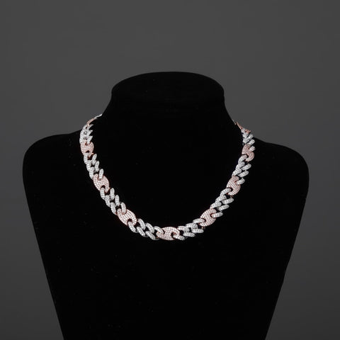 Image of Iced Out CZ Miami Cuban Necklace (12mm)