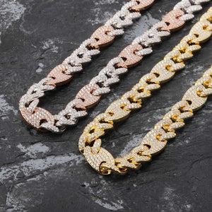 Iced Out CZ Miami Cuban Necklace (12mm)