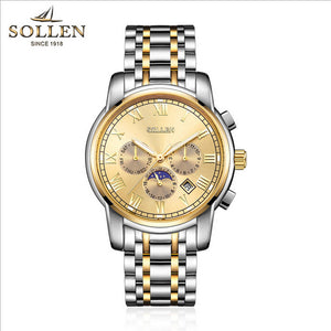 Gold Plated Stainless Steel Watches Self-winding