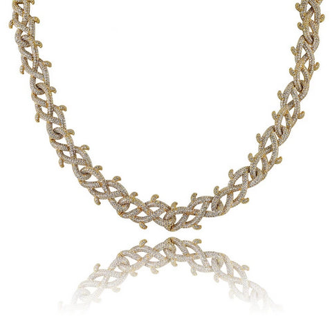 Barbed Wire Cuban Chain Necklace