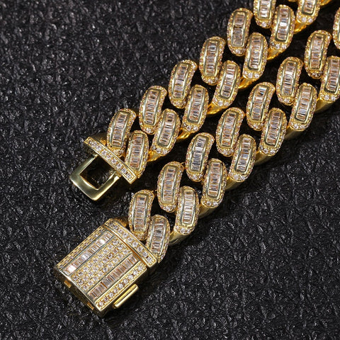 Image of Iced Out CZ Cuban Chain Necklace (13mm)