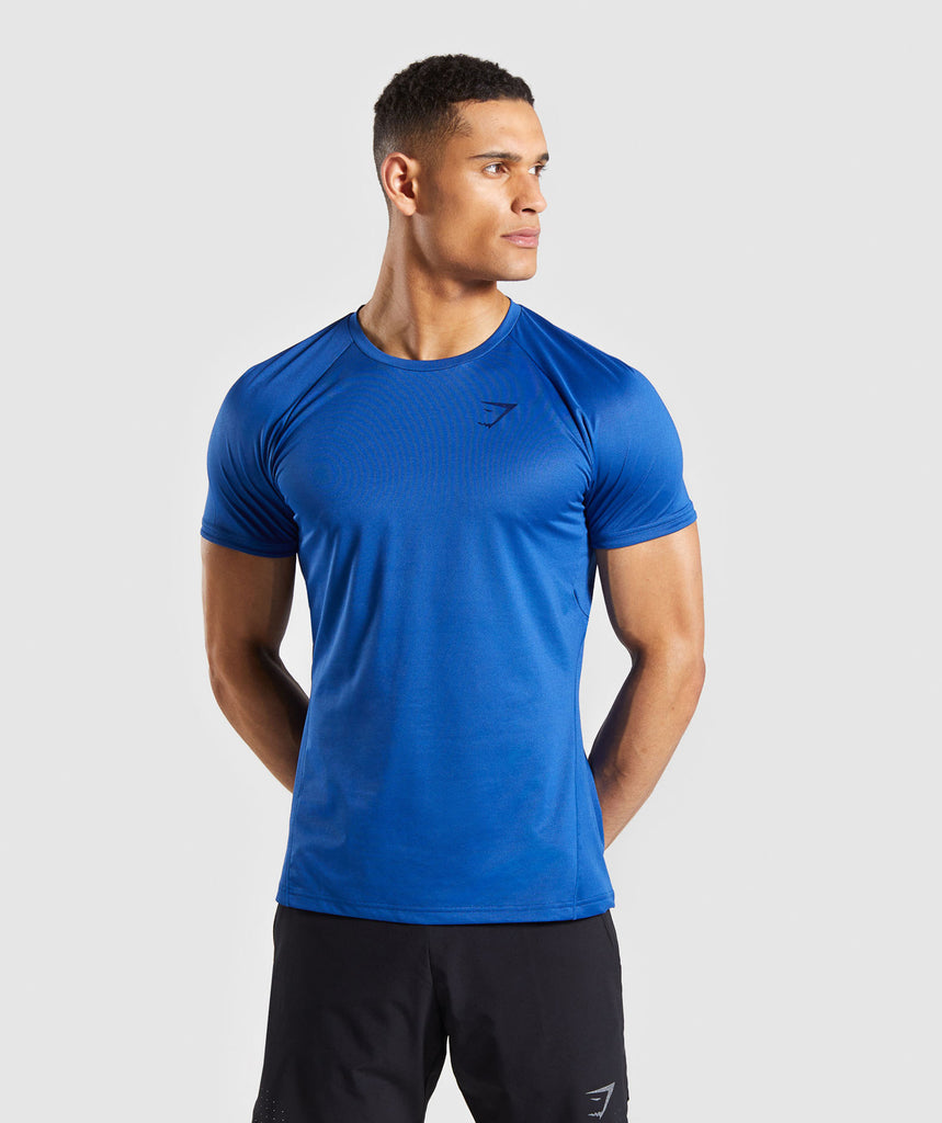 9549c8b854c07 Gymshark Contemporary T-Shirt - Blue 1