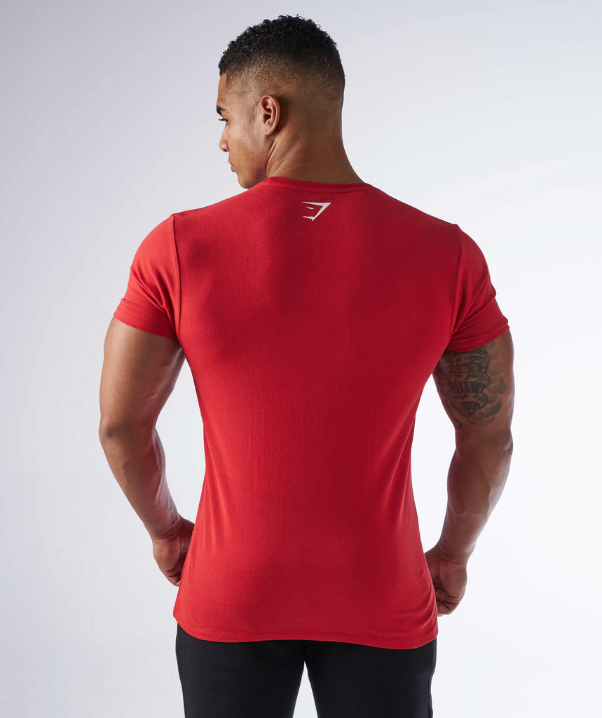 Gymshark Brushed Cotton T-Shirt - Volcanic Red