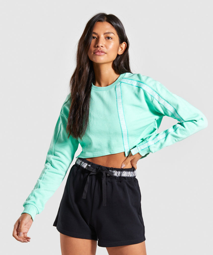 Gymshark 24/7 Cropped Sweater - Mint 1