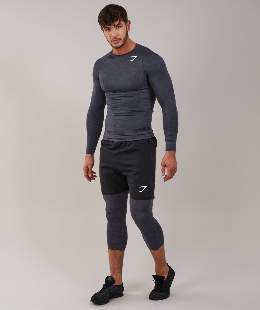 Gymshark Element Baselayer 3/4 Legging - Charcoal Marl 1