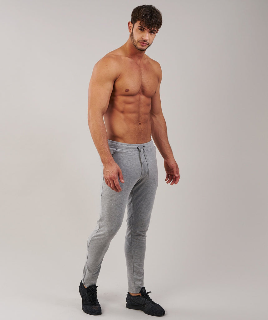 Gymshark Fit Tapered Bottoms - Light Grey Marl 1