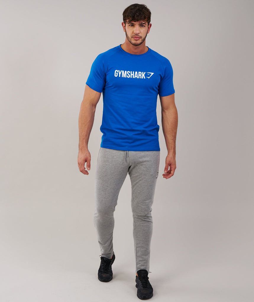 Gymshark Apollo T-Shirt - Dive Blue/White 1