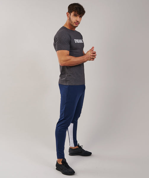 Gymshark Apollo T-Shirt - Charcoal Marl/White 3