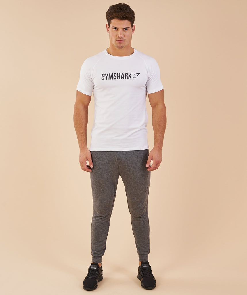Gymshark Apollo T-Shirt - White/Black 1