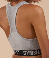 Gymshark Flex Sports Bra - Light Grey Marl/Black 11