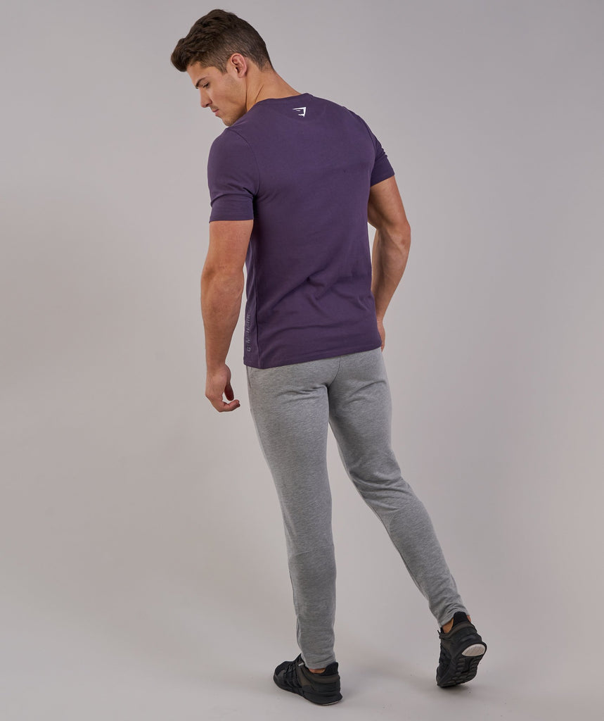 Gymshark Brushed Cotton T-Shirt -Nightshade Purple 2