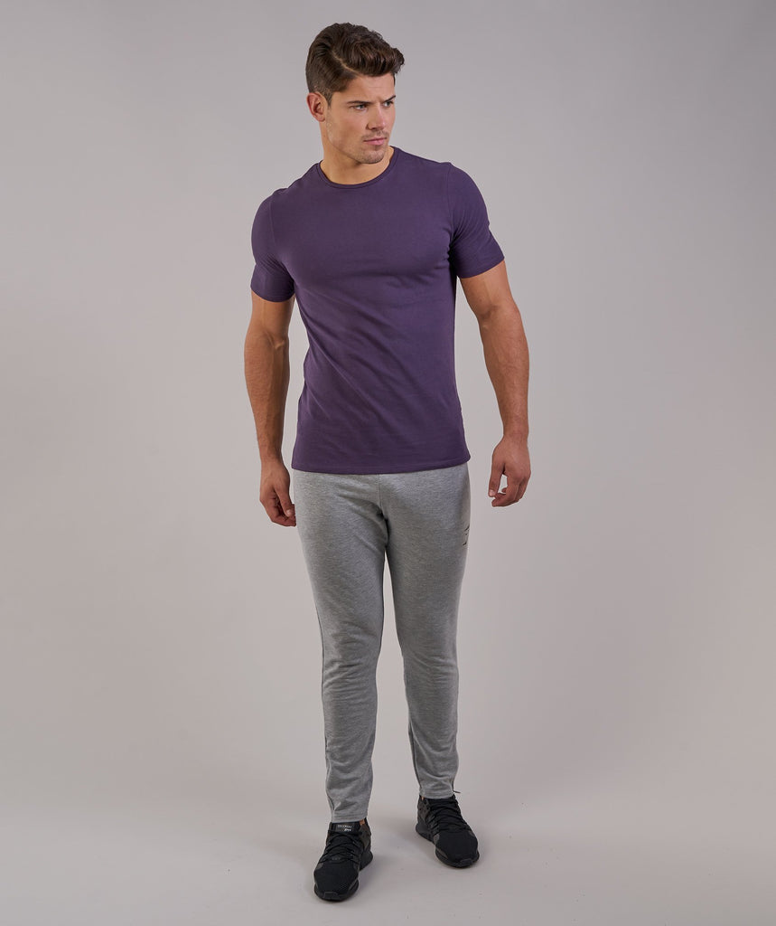 Gymshark Brushed Cotton T-Shirt -Nightshade Purple 1