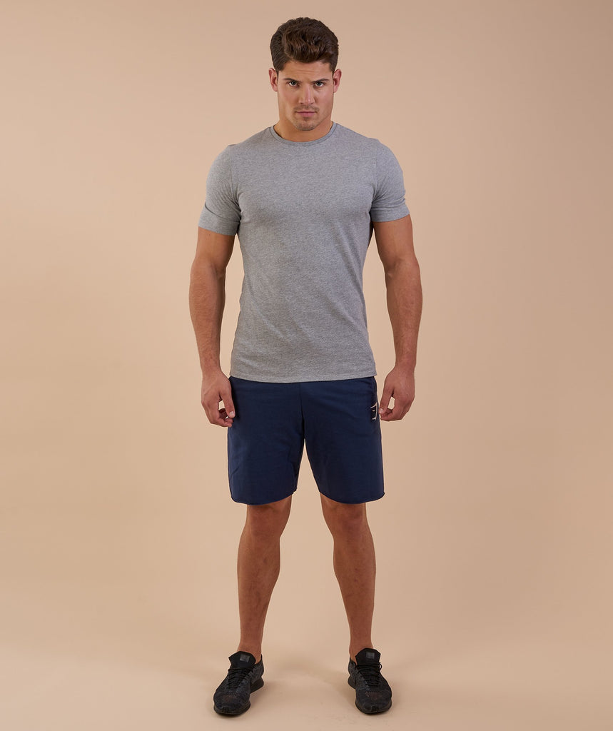 Gymshark Brushed Cotton T-Shirt - Light Grey Marl 1