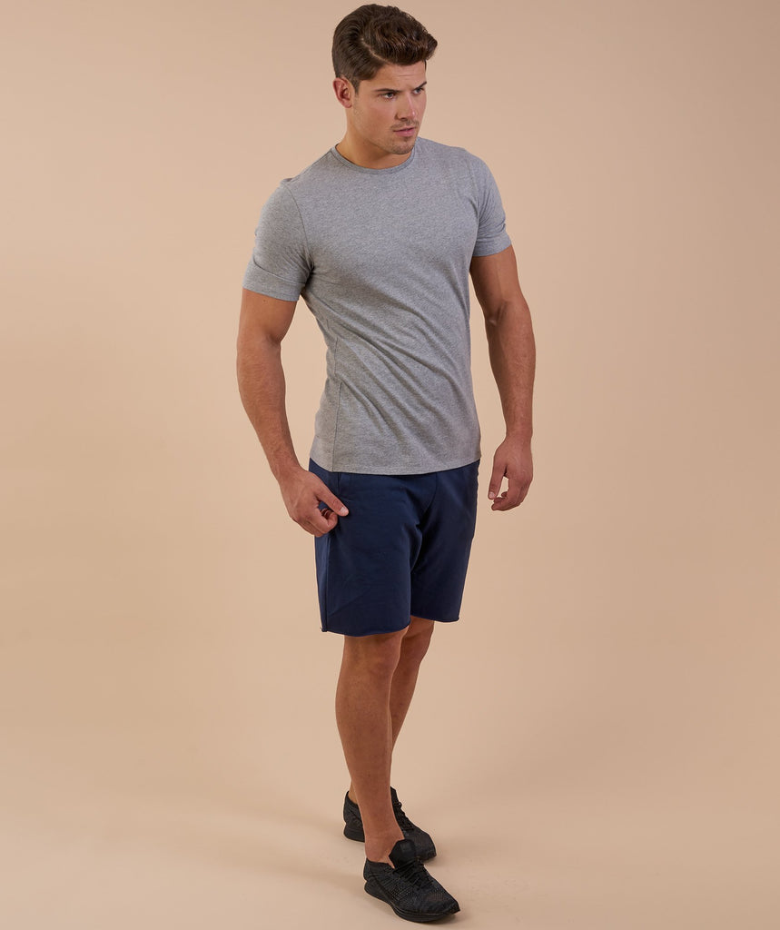Gymshark Brushed Cotton T-Shirt - Light Grey Marl 2