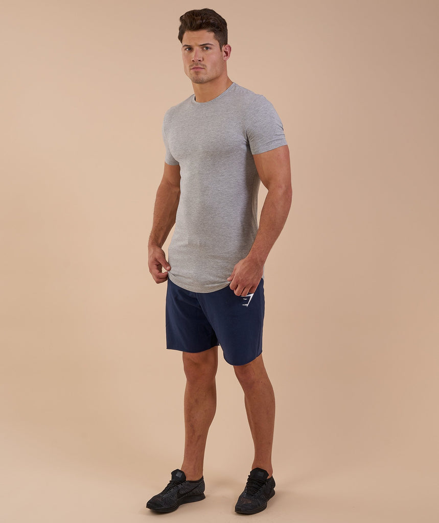 Gymshark Solace Longline T-Shirt - Light Grey Marl 1