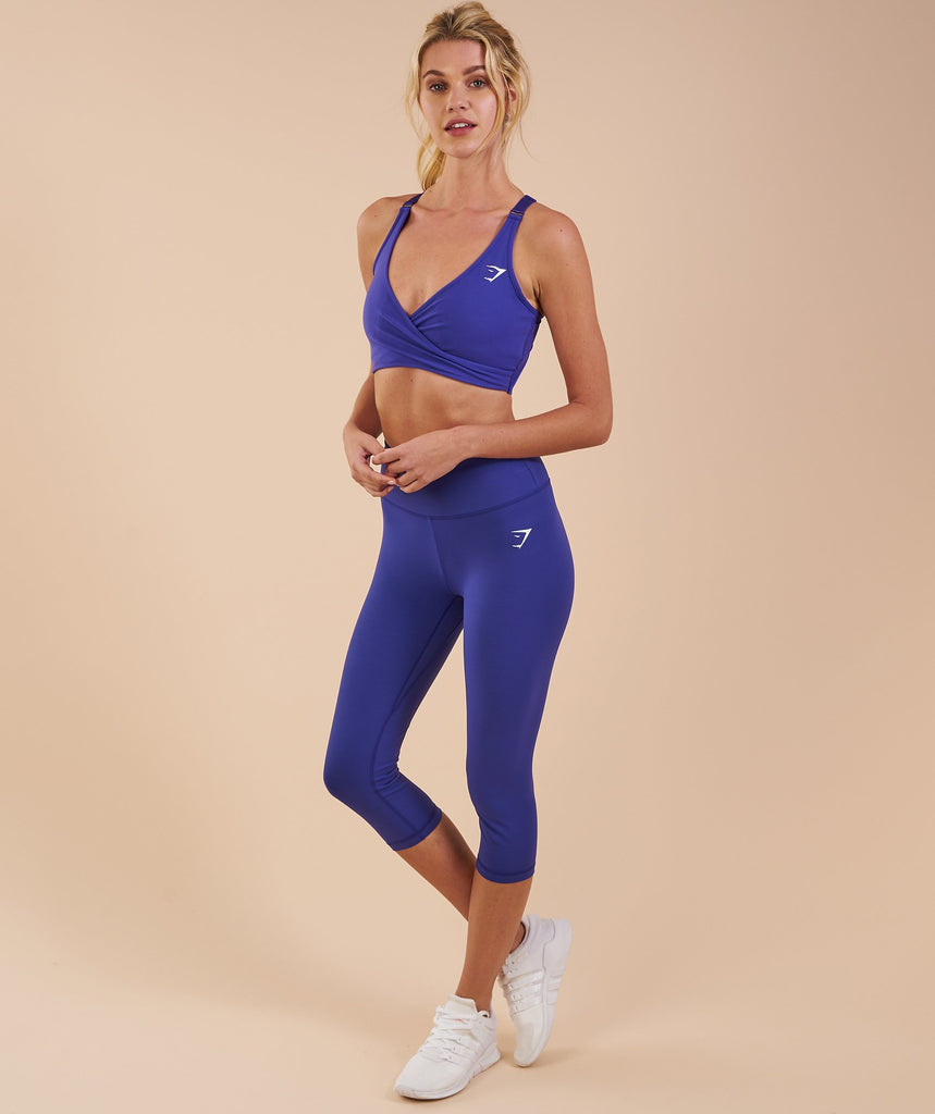 Gymshark Dreamy Cropped Leggings - Indigo 6