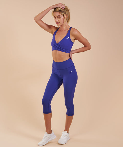 Gymshark Dreamy Cropped Leggings - Indigo 3