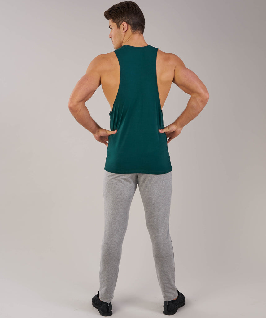 Gymshark Fitness Drop Armhole Tank - Forest Green