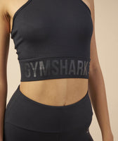 Gymshark Serene Sports Crop Top - Black 12