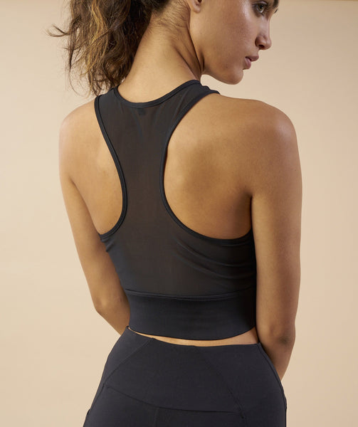 Gymshark Serene Sports Crop Top - Black 4
