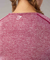 Gymshark Vital Seamless Long Sleeve Top - Beet Marl 12