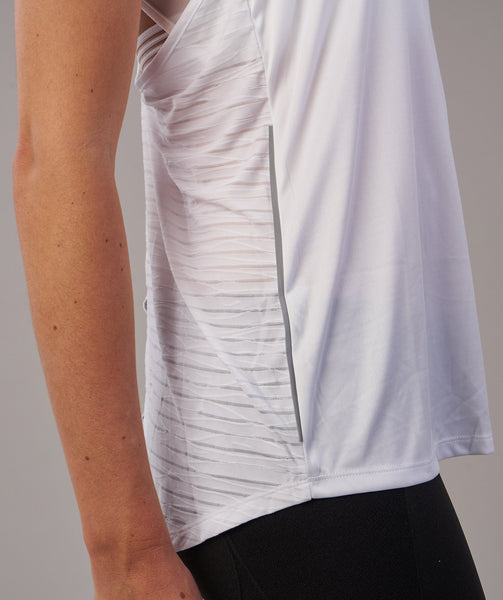 Gymshark T-Bar Vest - White 4