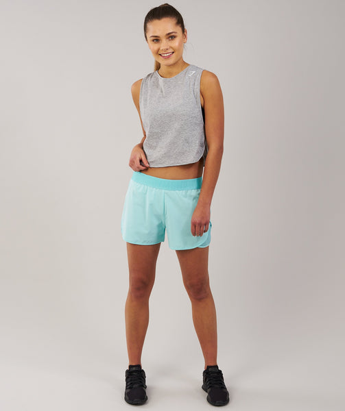Gymshark Cropped Tank Top - Light Grey Marl 4