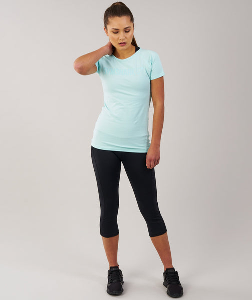 Gymshark Women's Apollo T-Shirt - Pale Turquoise 3