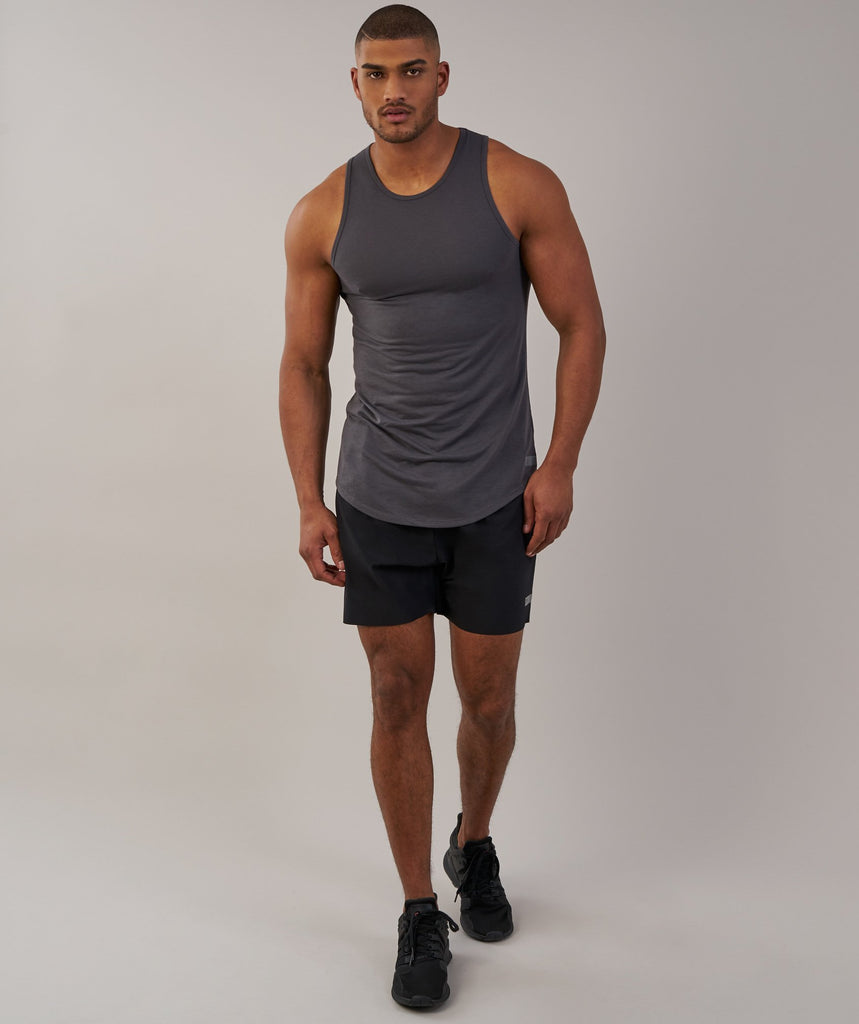 Gymshark Perforated Longline Tank - Charcoal 1
