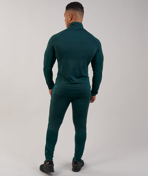 Gymshark Fallout 1/4 Zip Pullover - Forest Green Marl 1