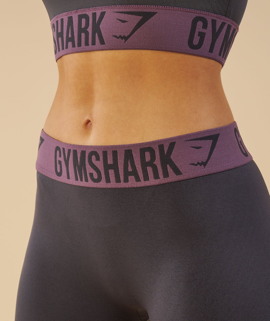 Gymshark Fit Cropped Leggings - Charcoal/Purple Wash 2
