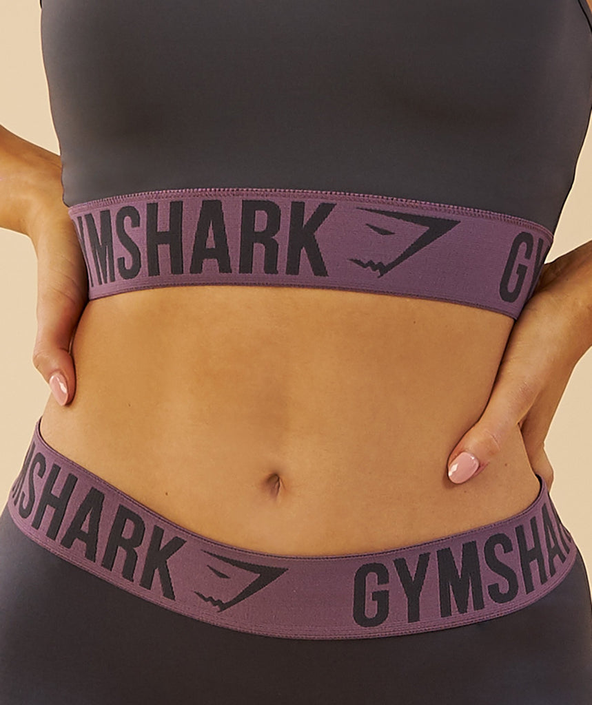 Gymshark Fit Shorts - Charcoal/Purple Wash 5