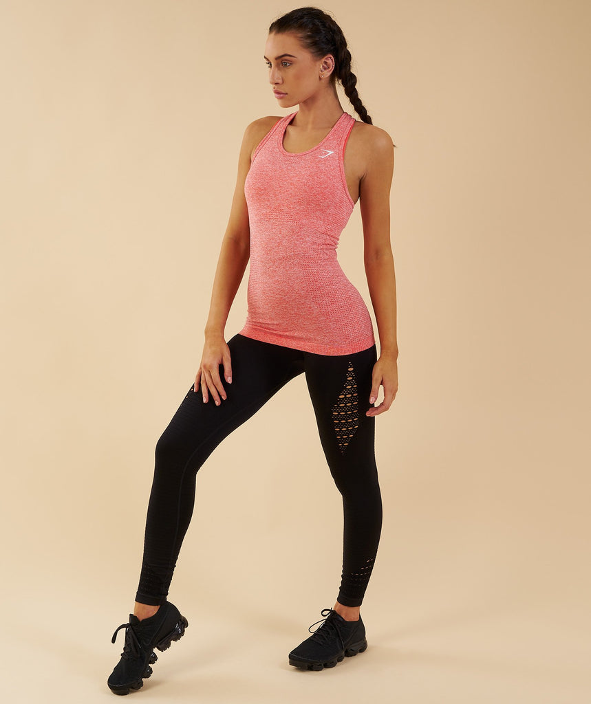 Gymshark Seamless Vest - Peach Coral 1