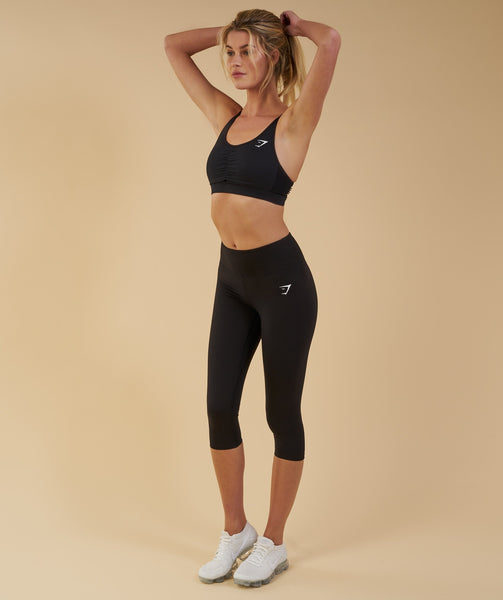 Gymshark Dreamy Cropped Leggings  - Black 3